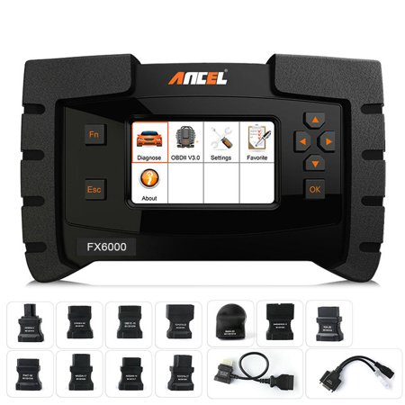 Ancel FX6000 OBD2 Scanner Airbag ABS SRS Transmission EPB DPF Oil IMMO TPMS  Audio Throttle Reset Injector Coding Check Engine Code Reader Full System