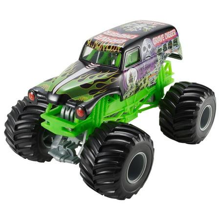 Hot Wheels Monster Jam 1 24 Grave Digger Die Cast Vehicle