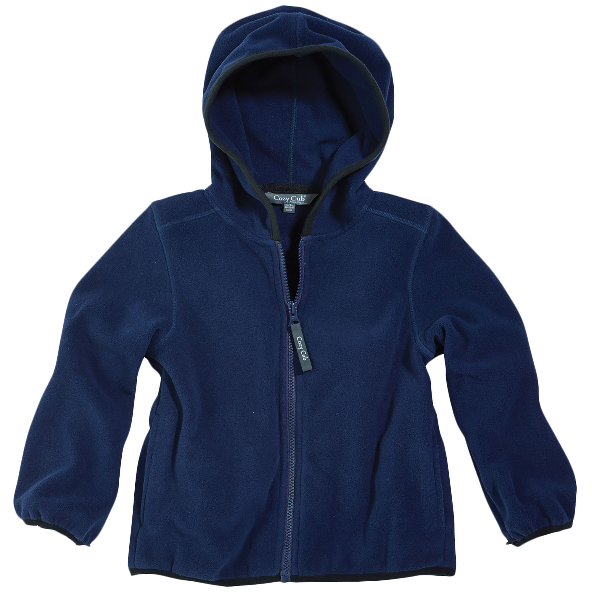 Cozy Cub Baby and Toddler Boy Hooded Fleece Jacket - Polar Fleece All-Season Jacket - Navy Blue