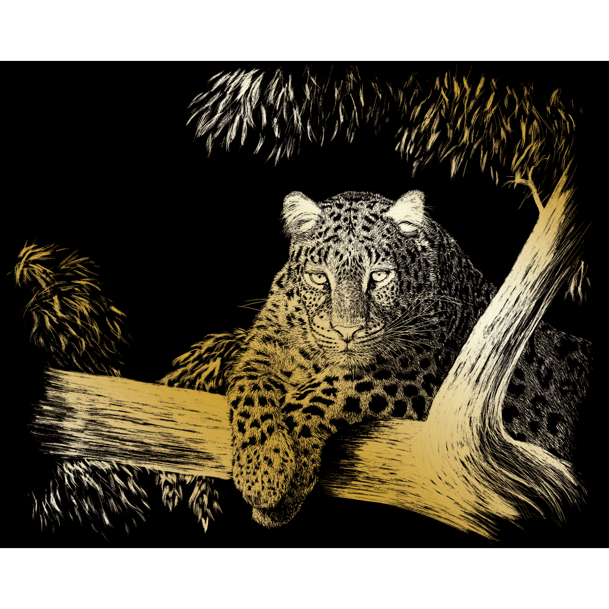 Gold Foil Engraving Art Kit 8X10-Spotted Multi-Colored