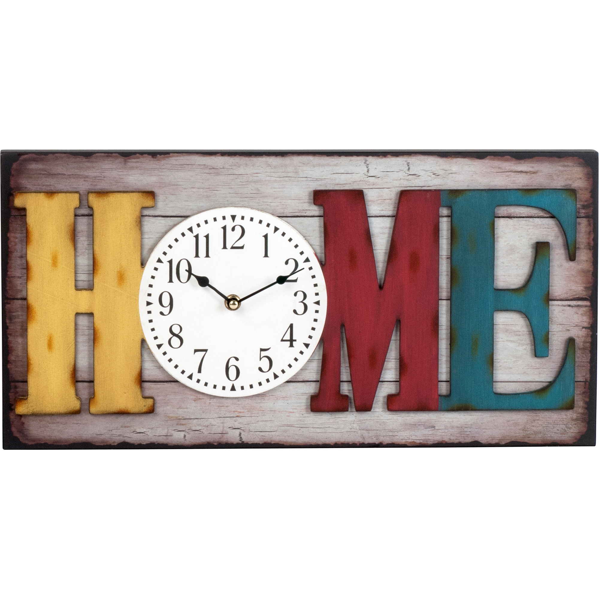 "better homes and gardens "" big rectangle home wall clock,"
