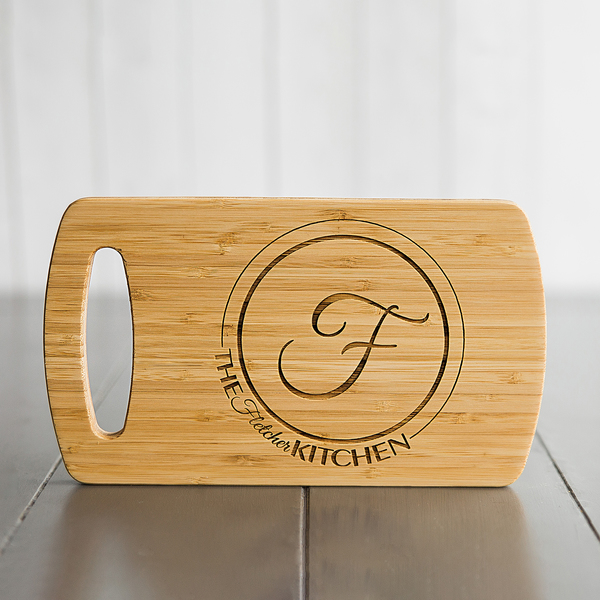 Personalized Easy Carry Cutting Board Fletcher