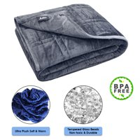"""Ultra Plush Pine & River Weighted Blanket 