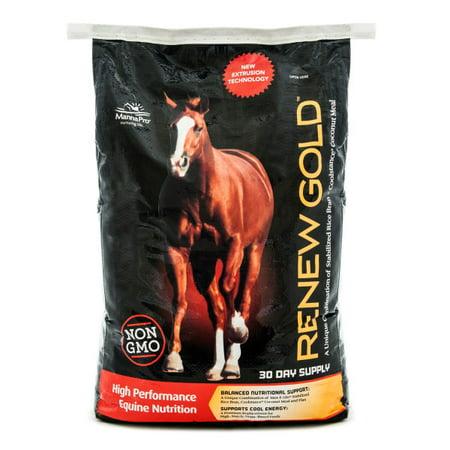 Batch Feed - Manna Pro Renew Gold Horse Feed, 30 lbs.