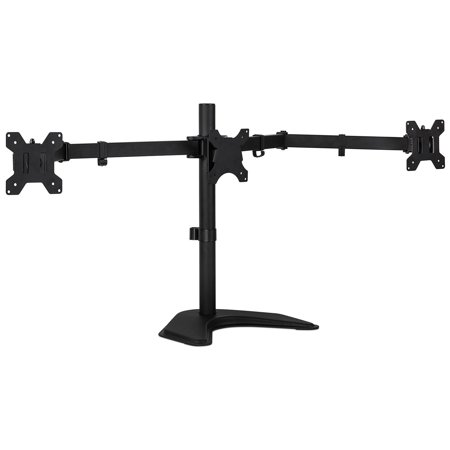 Mount-It! Freestanding Triple Monitor Desk Stand for 13