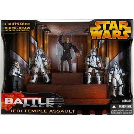 Star Wars Battle Packs 2005 Jedi Temple Assault Action Figure - Temple Toy