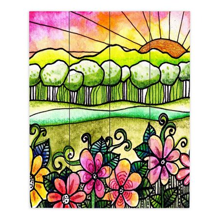 Dianoche Designs Bright Horizon By Robin Mead Painting Print Plaque