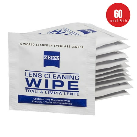 Zeiss Pre-Moistened Lens LCD LED Screen Optical Camera Cleaning Cloth Wipes 60 Count