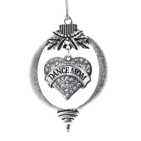 Dance Mom Pave Heart Holiday - Dance Ornaments