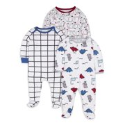 Little Star Organic Baby Boy Sleep N Play, 3 Pack (NB-9M)