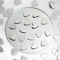 Silver Metallic Foil Heart Confetti Sprinkles For Wedding Party 300pcs/pk 2PK