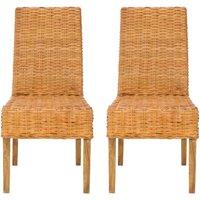Safavieh Sanibel Rattan Side Chair, Set of 2