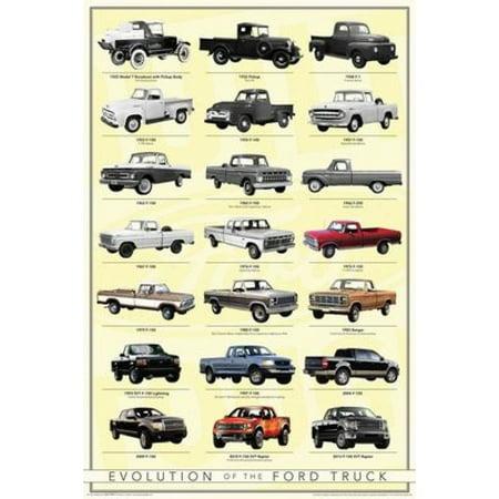 Ford - Truck Evolution Poster Poster Print - Walmart.com