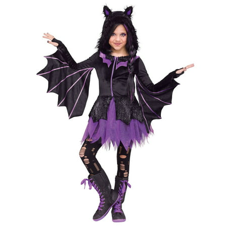 Night Flyer Girl's Costume - Girl Bat Costumes