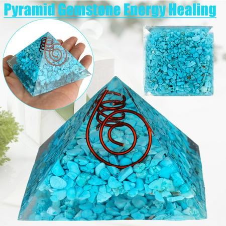 Mrosaa Charged Gemstone Large Orgone Pyramid – Orgonite Healing Crystals  Bio–Energy Enha