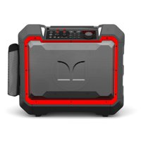 Monster Rockin' Roller 4 Portable Indoor/Outdoor Water Resistant 100W Bluetooth Party Tailgate Speaker, TWS Technology (Connect 2 Speakers Wirelessly), NOAA Weather & FM Radio (Refurbished)