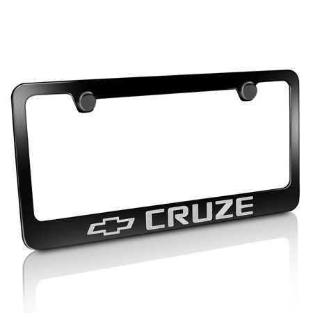 Chevrolet Cruze Black Metal License Plate Frame - Walmart.com
