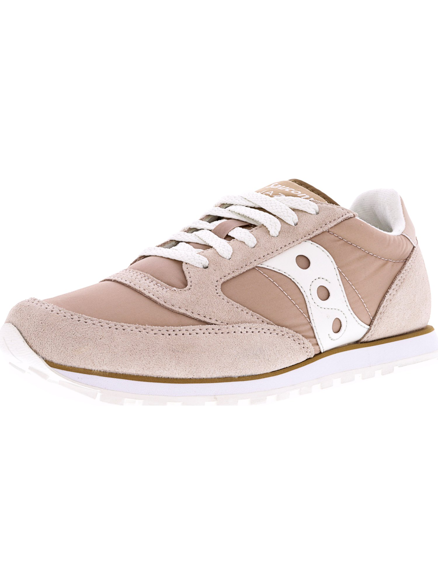 59c9e7cf Saucony Women's Jazz Low Pro Tan / White Ankle-High Fashion Sneaker - 10M