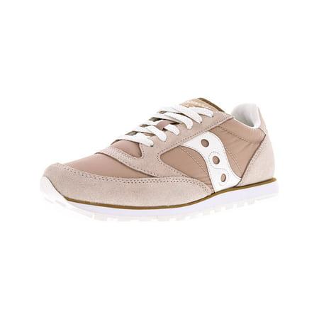 Saucony Women's Jazz Low Pro Tan / White Ankle-High Fashion Sneaker - (Jazz Sneaker)