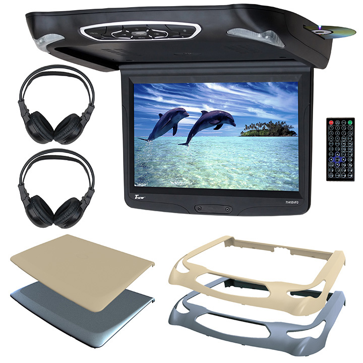 """TView 14.1"""" Overhead w/DVD 3 Color Skins & 2 Sets HP's"""