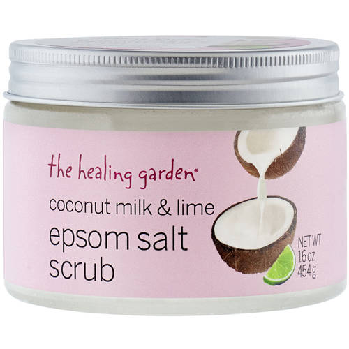 The Healing Garden Coconut Milk & Lime Epsom Salt Scrub, 16 oz