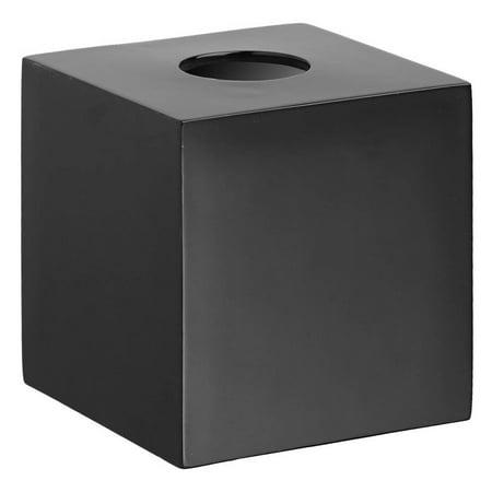 Contemporary Tissue Holder Black Tissue Box