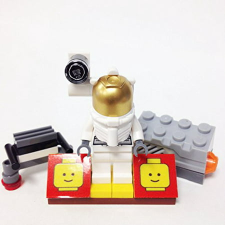 MinifigurePacks: Lego City - Space Port Bundle (1) Astronaut (1) Figure Display Base (2) Figure Accessory's (Space Sound Brick & JetPack)](Astronaut Jetpack)