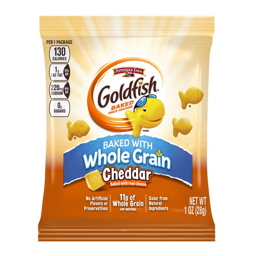 Pepperidge Farm Campbell Goldfish Whole Grain Cheddar Cracker 1oz (PACK OF 60)