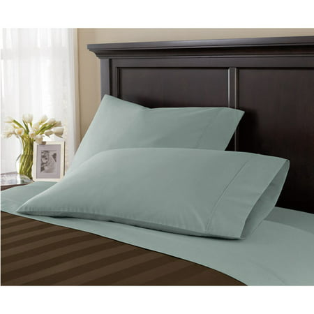 Image of Canopy Wrinkle-Free Pillowcase, Teal Silk