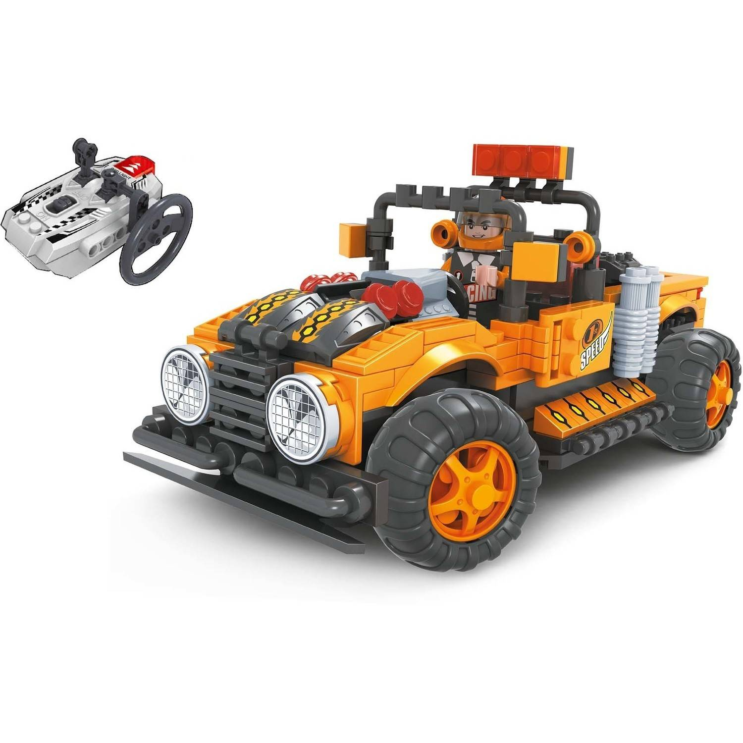 BRICTEK R C Action Off-Road Truck Orange by BRICTEK BUILDING BLOCKS