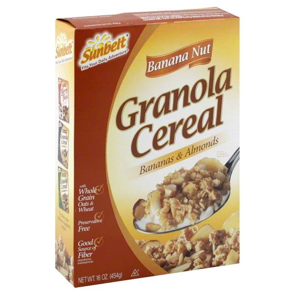 Sunbelt: W/Bananas & Almonds Banana Nut Granola Cereal, 16