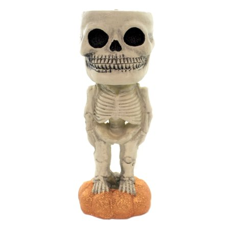 Halloween CAT OR SKELETON CANDY DISH Polyresin Pumpkin Trick Treat 73259 A