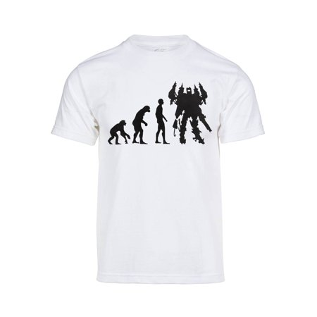 3657f648 Mens Evolution of Mecha Short-Sleeve T-Shirt - Green - 2X-Large ...