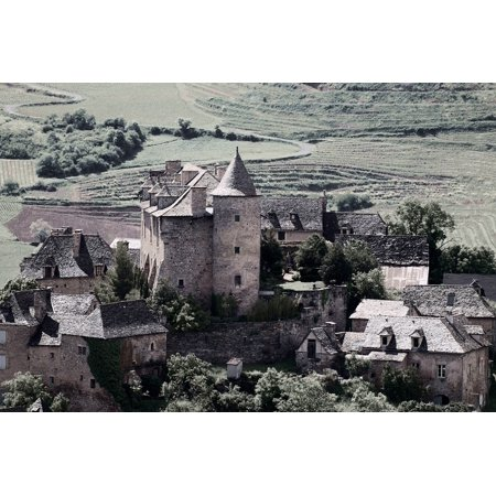 LAMINATED POSTER Castle Aveyron Panat Middle Age Medieval Poster Print 24 x 36 - Medieval Castle Decorations