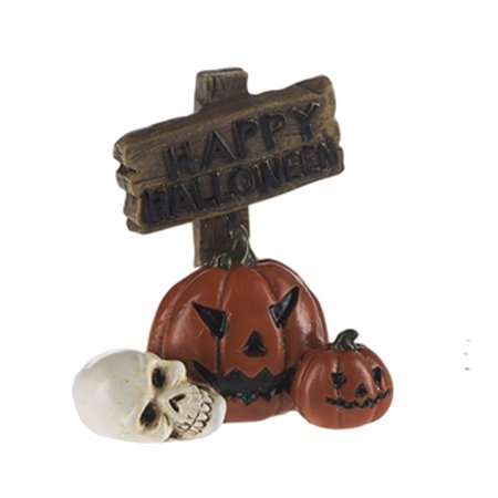 Happy Halloween Sign Spooky Garden Fantasy Figure - By - Happy Halloween Spooky Sounds