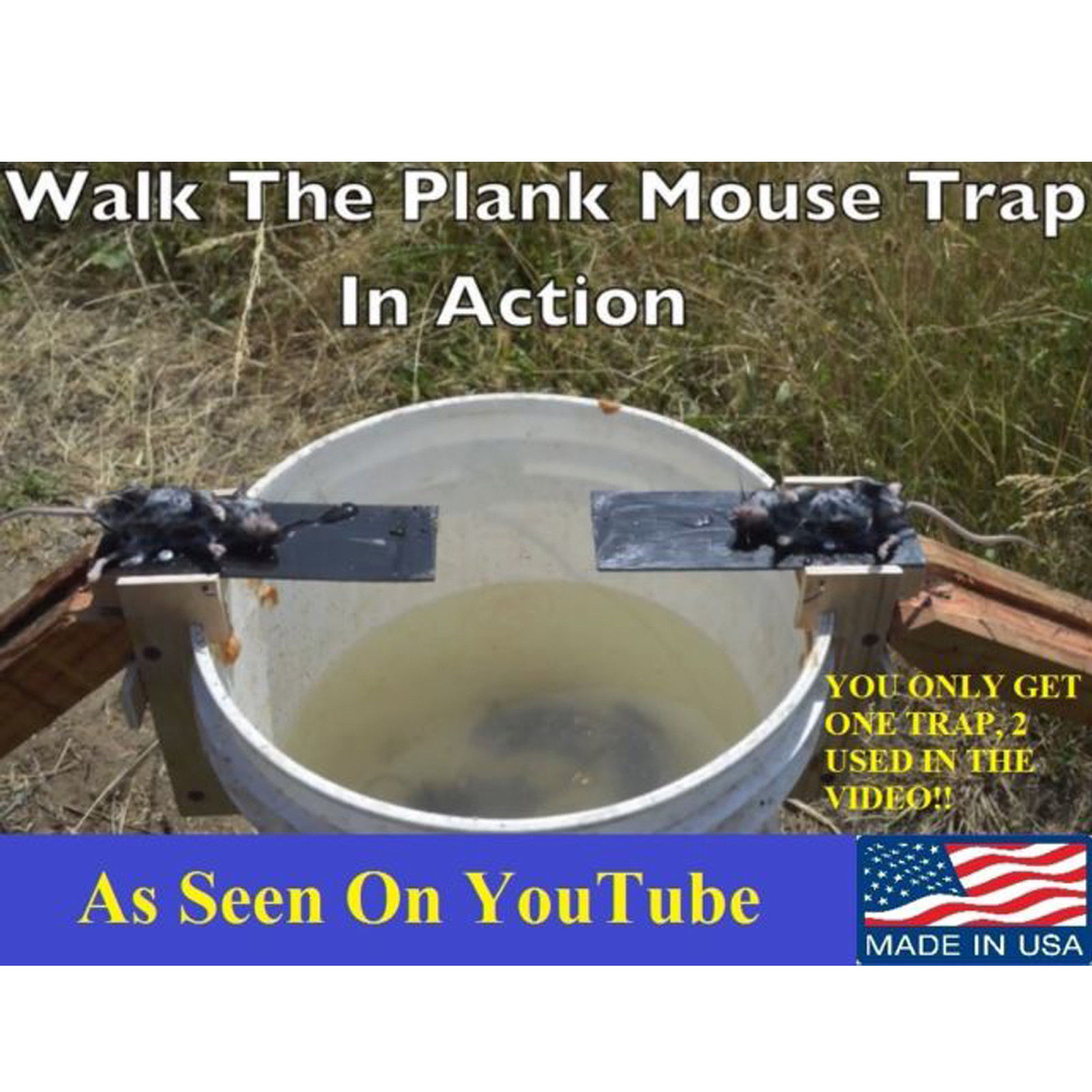 Walk The Plank Mouse Trap Wooden Reusable Mice Catcher Auto Reset