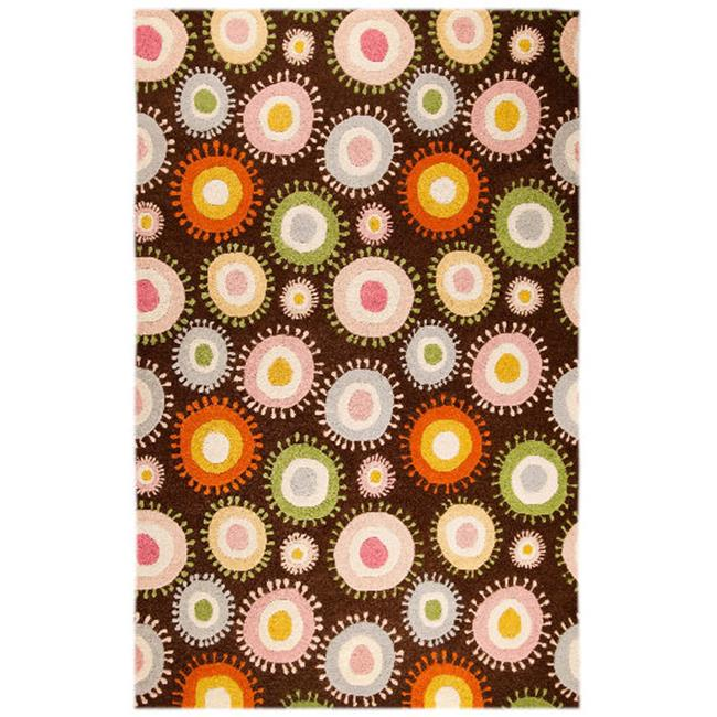 M A Trading NOVSOMCHO052076 Nova 2038 5.17 ft. x 7.5 ft. Hand Tufted Rug - Chocolate-Multi