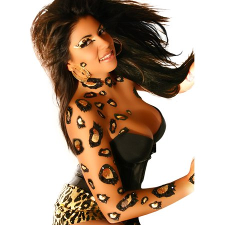 Cheetah Body Temporary BODY ART Dancer Stripper Animal Costume Xotic Eyes