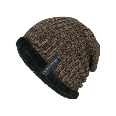 Men's Knitted Wool Beanie Hats Winter Sports Ski Slouch Boy Casual Outdoor Caps Mesh Wool Cap
