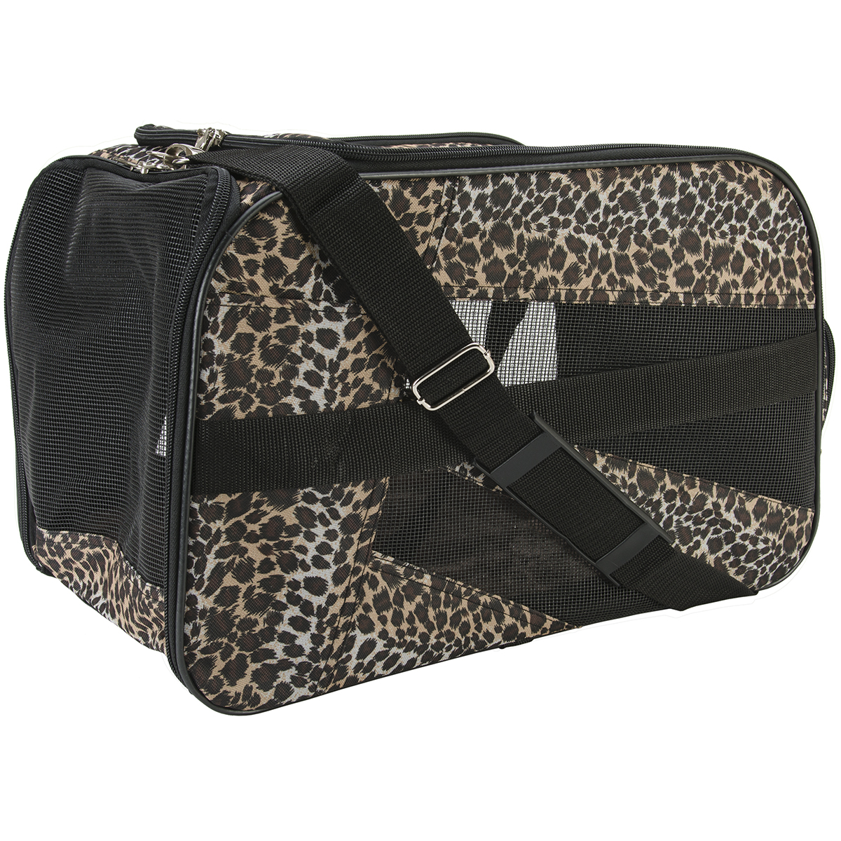 Pet Smart Cart Carrier -Large 22 Inch X 4 Inch X 12 Inch-Leopard