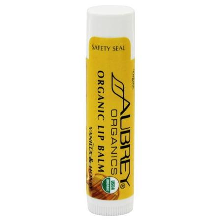 Organic Lip Balm Vanilla Honey - Aubrey Organics - Treat 'Em Right Organic Lip Balm Vanilla & Honey - 0.15 oz.