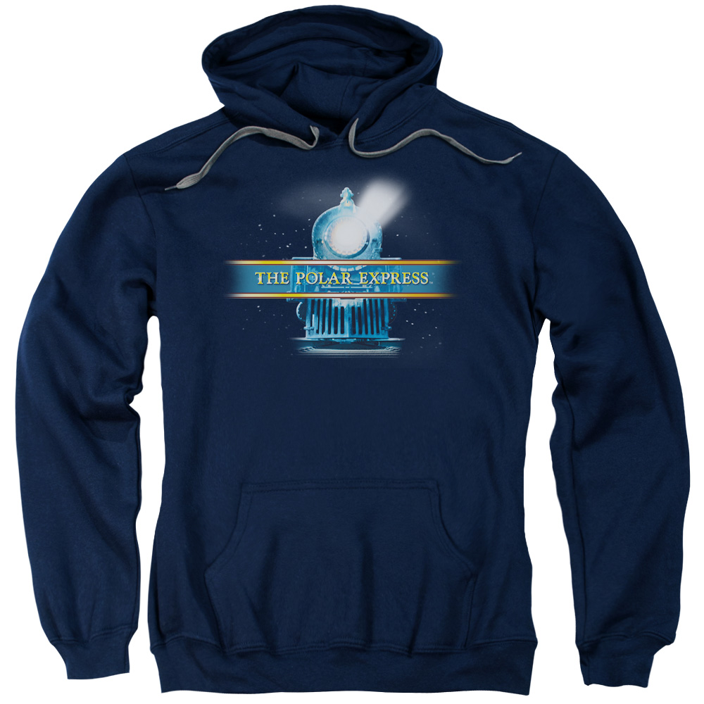 POLAR EXPRESS/TRAIN LOGO-ADULT PULL-OVER HOODIE-NAVY-LG