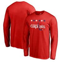 Washington Capitals Fanatics Branded Team Alternate Long Sleeve T-Shirt - Red