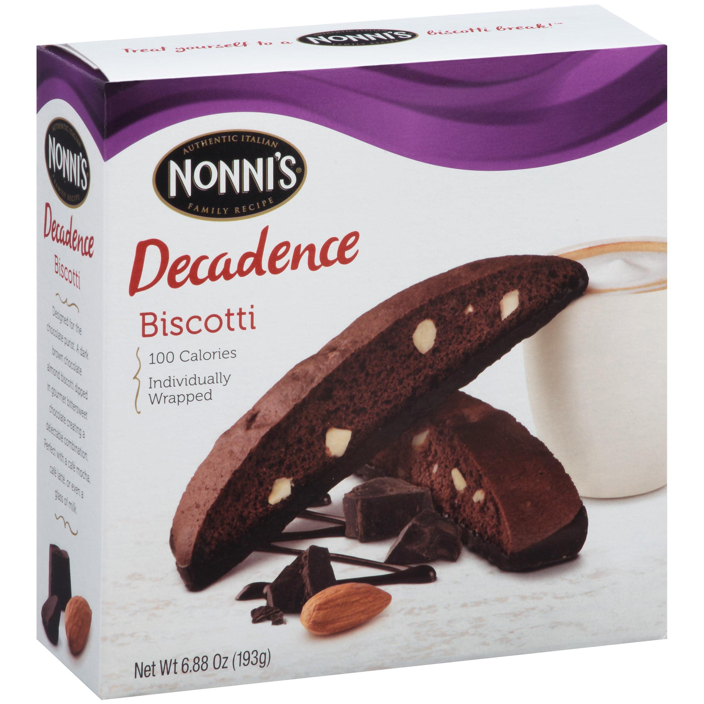 Nonnis Dark Chocolate Almond Biscotti 8 ct Box by Nonni's
