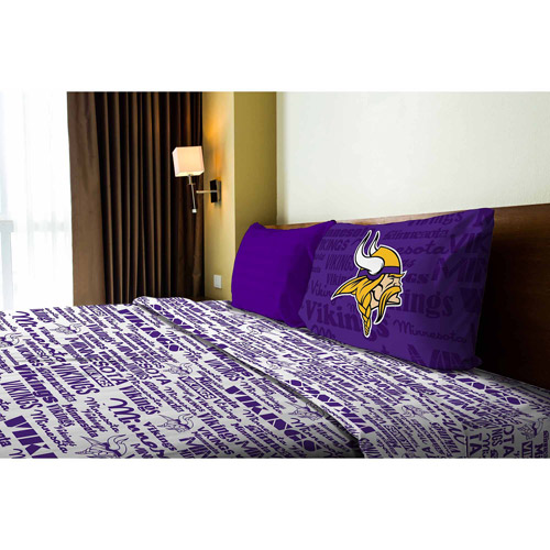NFL Anthem Bedding Sheet Set, Vikings