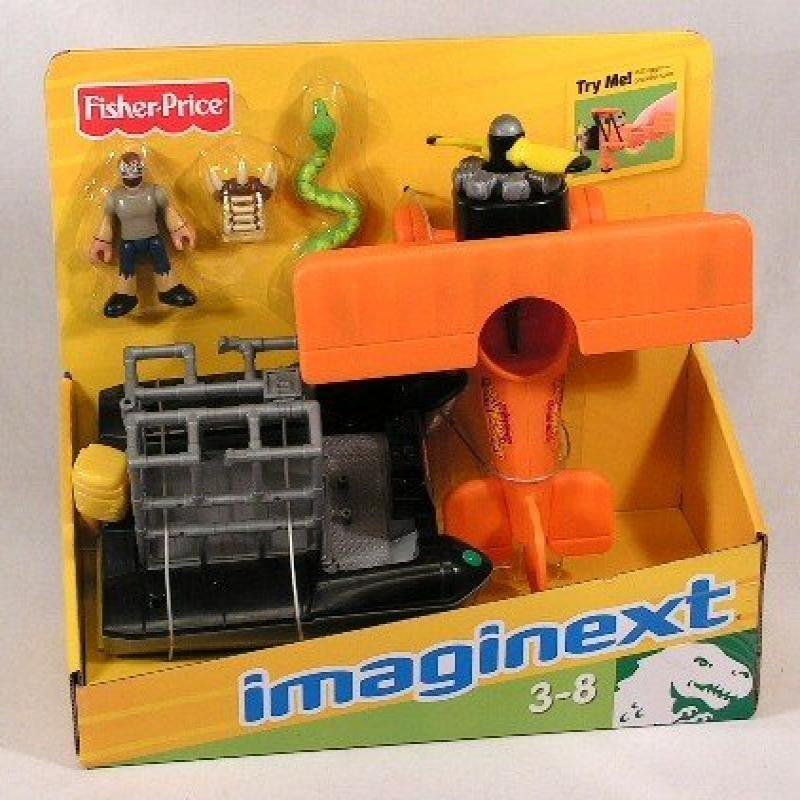 IMaginext Lost Creatures Playset Raft, Plane and Figures by Fisher Price by