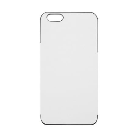cd9621a63cf2 Cross Pattern PU Leather Chrome Hard Plastic Case Cover For iPhone 6 Plus  White   Gray - Walmart.com