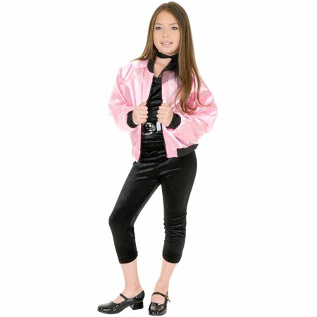 Pink Satin Ladies Kids Jacket Child Halloween Costume](Zombie Punk Halloween Costume)
