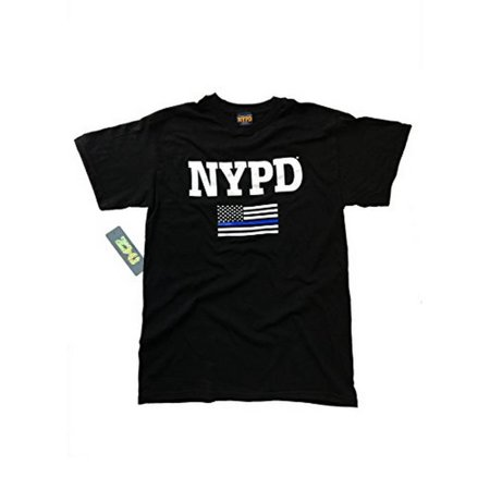 NYPD Blue Lives Matter -Thin Blue Line Officially Licensed Unisex T-Shirt 100%