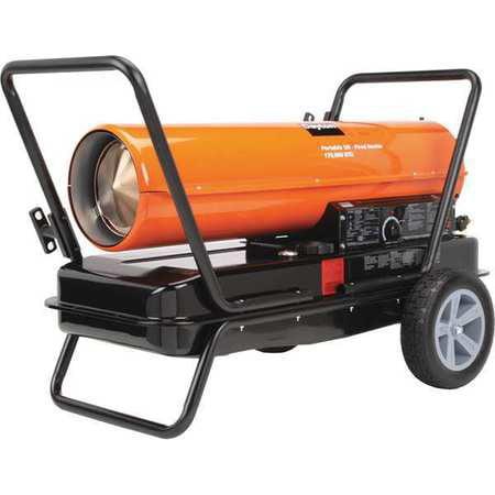 DAYTON Oil Fired Torpedo Heater,170,000 BtuH 3VE51